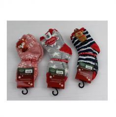 Chaussettes de Noël pour Enfant - Taille 31/35 - Couleur au Choix