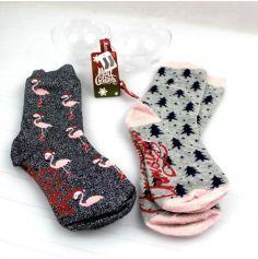 chaussette-femme-noel-boule|jourdefete.com