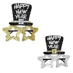 """Lunettes en plastique """" Happy New Year """" - Sans verres - Couleur au Choix"""