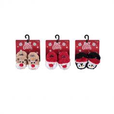 Chaussons de Noël pour Bébé - Taille 16/17 - Modèle au Choix