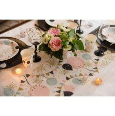 Chemin de table célébration multicolore - Paillettes