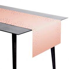 Chemin de table en papier - Anniversaire Elégant - 240 cm - Couleur au Choix