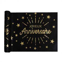 chemin-de-table-joyeux-anniversaire-etincelant-or | jourdefete.com