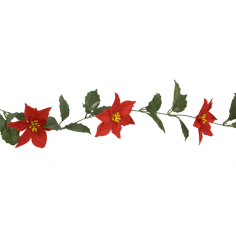 Guirlande de poinsettias – 1,7 m | jourdefete.com