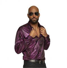 Chemise Funky Mauve pour homme - Taille au Choix