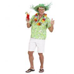 Chemise Hawaienne Verte Adulte