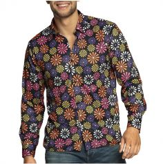 chemise hippie fleurs pour homme | jourdefete.com