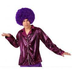 Chemise disco fuchsia pour homme - Taille au choix