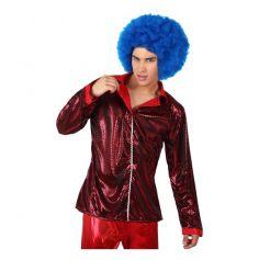 Chemise disco rouge pour homme - Taille au choix
