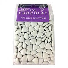 Dragées Mini Coeurs Chocolat 500 gr – Blanc