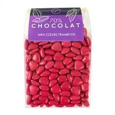 Dragées Mini Coeurs Chocolat 500 gr – Framboise
