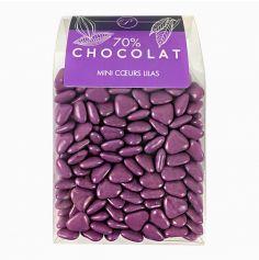 Dragées Mini Coeurs Chocolat 500 gr – Lilas