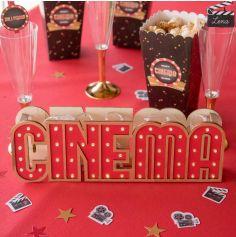 Décoration Lumineuse de lettres à Poser - Cinéma Hollywood