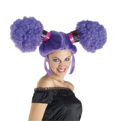 Perruque Femme Grosses Couettes - Violette