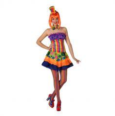 Costume de clown psychédélique - Taille au choix