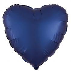 ballon-coeur-satin-bleu | jourdefete.com