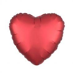 rouge-ballon-coeur-satin | jourdefete.com