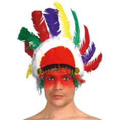 Coiffe d'Indien Multicolore Sitting Bull