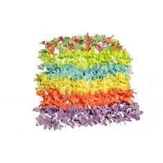 Collier de Fleurs de 8 cm Hawaï - Couleur au Choix