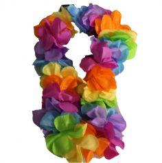 collier-grosses-fleurs-hawai-arc-en-ciel | jourdefete.com