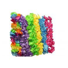 Collier de fleurs Hawaïen Fluo - Couleur au Choix