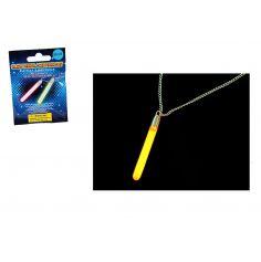 Collier avec Pendentif Lumineux Fluo