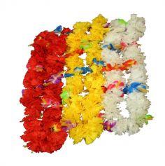 Collier Hawaïen avec fleurs d'Hibiscus - Couleur au Choix