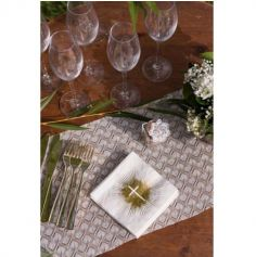 20 serviettes Or Communion