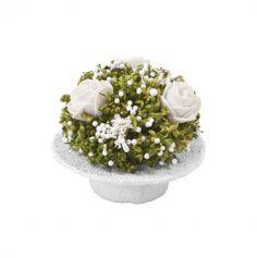 Composition de Fleurs Séchées et Roses dans un chapeau - Couleur au Choix