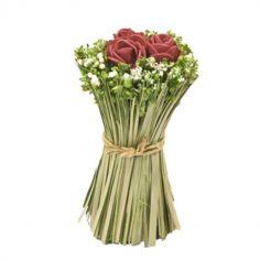 Composition de Roses et Fleurs Séchées dans Gerbe - Couleur au Choix