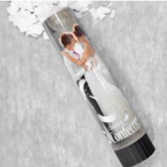 Canon à confettis blancs pour mariage