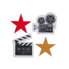 confettis-table-cinema-Hollywood-etoile-camera-clap|jourdefete.com