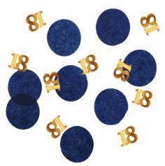 confettis de table bleus et or pour anniversaire | jourdefete.com