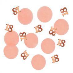 Confettis de table - Anniversaire Elégant - Blush & Rose Gold - 25 g - Age au Choix