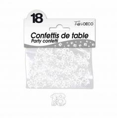 Confettis de Table Blancs - Age au Choix