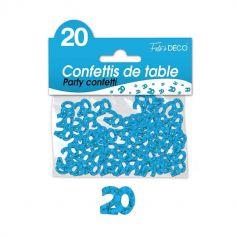 Confettis de Table Bleus - Age au Choix