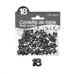 Confettis de Table Noirs - Age au Choix