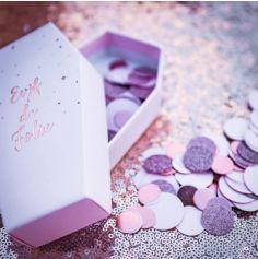 Confettis de Table - Paillettes Rose Gold et Rose Pastel Mat