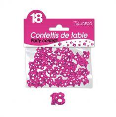 Confettis de Table Rose Fuchsia - Age au Choix