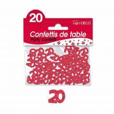 Confettis de Table Rouges - Age au Choix