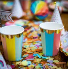 Sachet de Confettis en Papier Multicolores et Paillettes Or