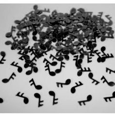 Confettis de table notes de musique noir
