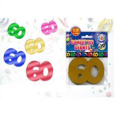 Sachet de confettis géants 60 ans