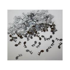 Confettis de table notes de musique argentés