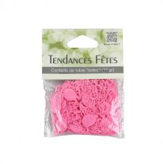 Confettis de table serpentins et ballons - rose