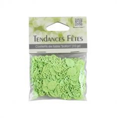 Confettis de table serpentins et ballons - vert anis
