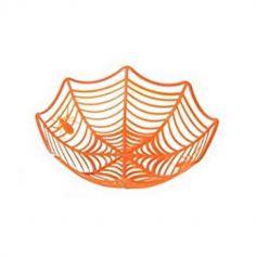 corbeille toile araignee orange ou noire | jourdefete.com