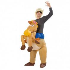 Déguisement Gonflable pour Adulte - Cowboy à Cheval