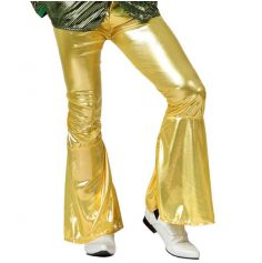 Pantalon Pattes d'Eph Disco Or