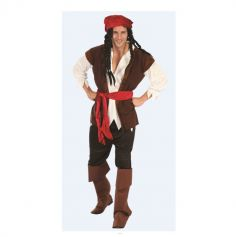 Costume Pirate avec Surbottes - Homme - Taille au choix